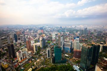Foto op Canvas Afrika Aerial View of Kuala Lumpur