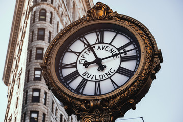 Fifth Avenue Building Clock in Flatiron District
