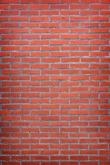 vertical part of red brick wall