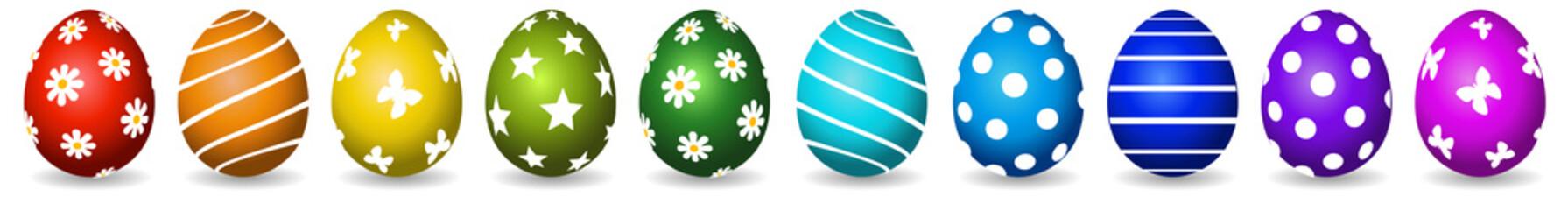 Bunte bemalte Eier