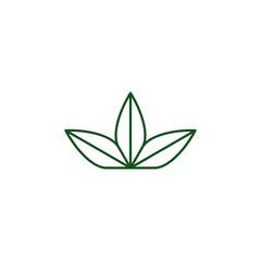 three leaves logo vector icon illustration