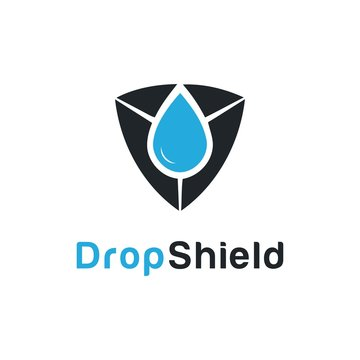 Water Drop and Shield template logo design