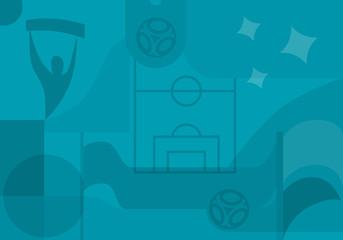 Football background. European championship 2020. Wall mural