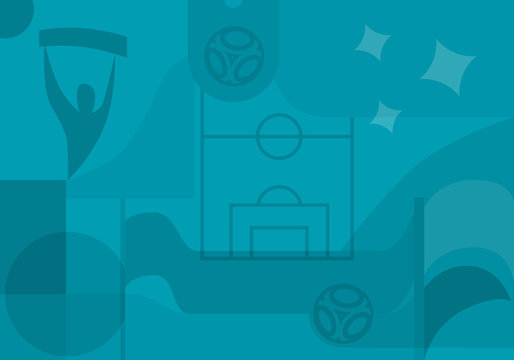 Football background. European championship 2020.