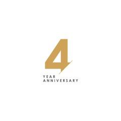Fototapeta 4 Year Anniversary Vector Template Design Illustration obraz