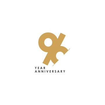 96 Year Anniversary Vector Template Design Illustration
