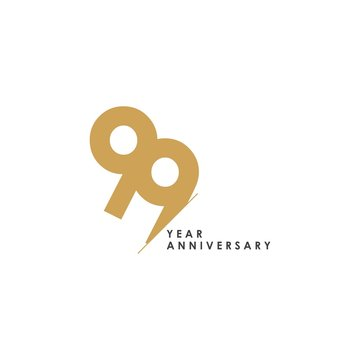 99 Year Anniversary Vector Template Design Illustration