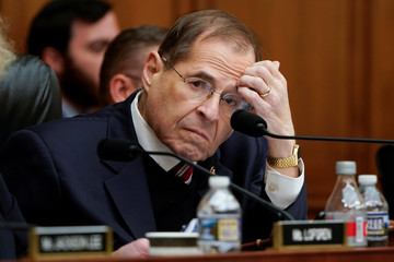 Chairman of the House Judiciary Committee Jerrold Nadler (D-NY) scratches his head during a mark up hearing on Capitol Hill in Washington