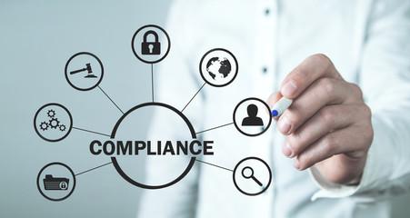 Concept Of Compliance. Business Concept