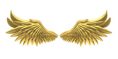 Golden Angel Wings Isolated Fototapete