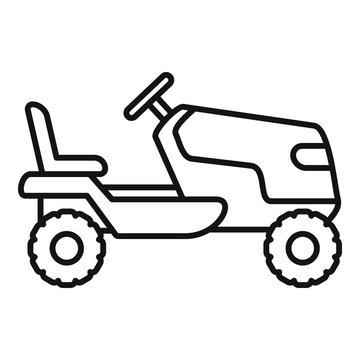 Tractor grass cutter icon. Outline tractor grass cutter vector icon for web design isolated on white background