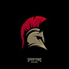 Spartan Logo Vector, Sparta Logo Vector, Spartan Helmet Logo Template, Icon Symbol