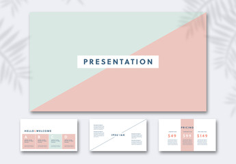 Pitch Presentation Layout with Pastel Elements