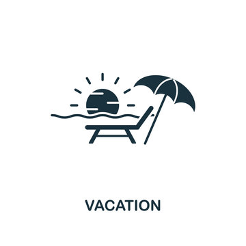 Vacation icon. Creative element design from tourism icons collection. Pixel perfect Vacation icon for web design, apps, software, print usage
