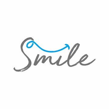 Dental smile logo design template vector illustration