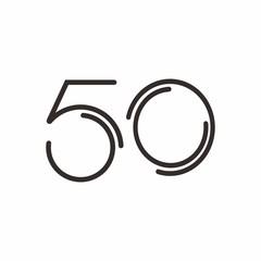50 logo initial letter design template vector illustration