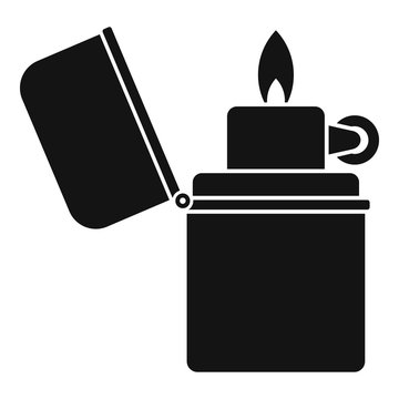 Cigarette lighter icon. Simple illustration of cigarette lighter vector icon for web design isolated on white background