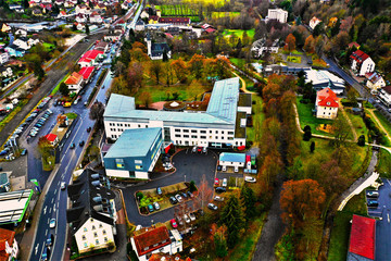Fotobehang Tokyo Bad Brückenau in Bayern aus der Luft - Drohne DJI Mavic 2 Pro