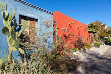 Old Tucson adobe homes.
