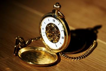 Antique golden pocket watch