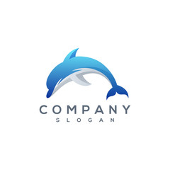 dolphin logo vector