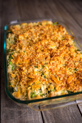 Turkey casserole with broccoli and rice