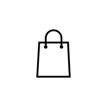 bag icon, shop bag icon vector design