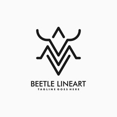 Beetle illustration vector template