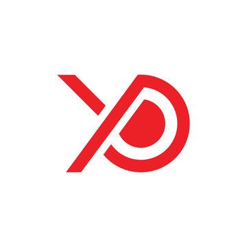 letters yo or oy simple geometric logo vector