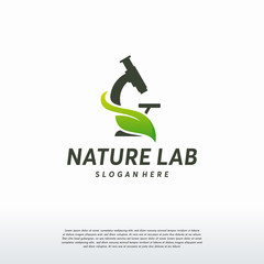 Nature Laboratory logo designs vector, Science Logo symbol