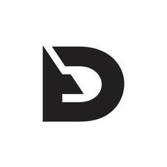 abstract simple letter td simple geometric logo vector