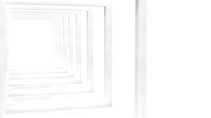 3d rendering of White Clear Blank Subtle Geometric Abstract