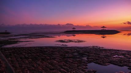 Bali red sunset