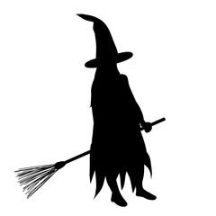 black silhouette girl halloween