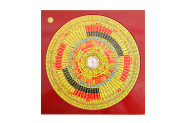 Chinese magnetic compass, also known as Feng Shui compass. Wall mural