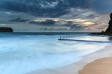 Sunrise Seascape and Cloudy Sky