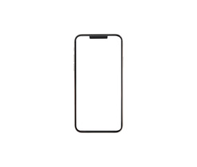 Modern Smartphone similar to i phone with blank screen for Infographic  business and marketing investment isolated with clipping path on white background
