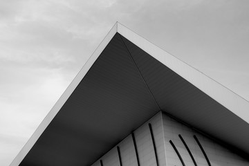 Architecture design detail black and white photography artistic