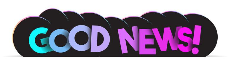 Papier Peint - Good news! vector text creative banner
