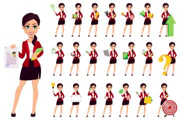 Businesswoman cartoon character. Beautiful woman