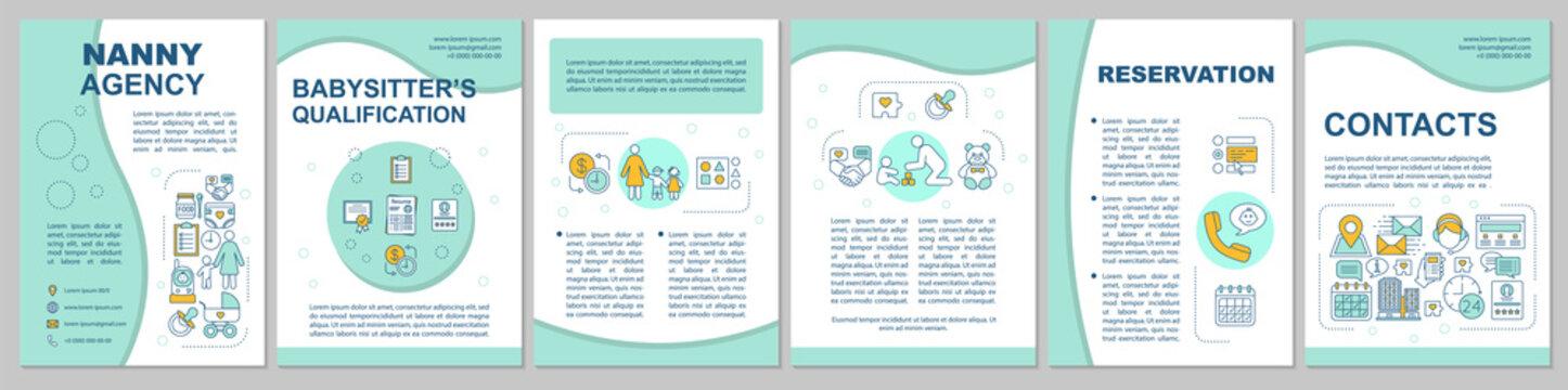 Nanny agency brochure template layout