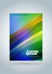 Business brochure cover design template. Modern business poster. Abstract colorful background
