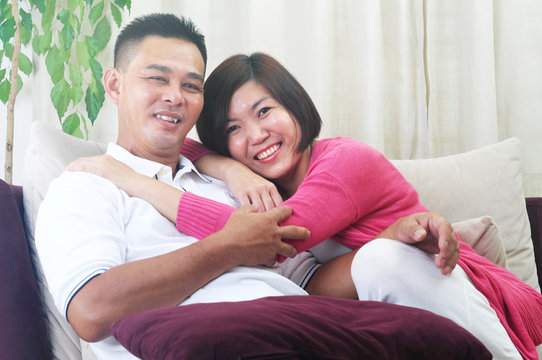 Asian Middle age couple