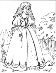 Coloring for girls. Princess. Puzzles. Labyrinth. 13