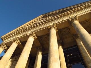 Berlin Reichstag front facade exterior detail