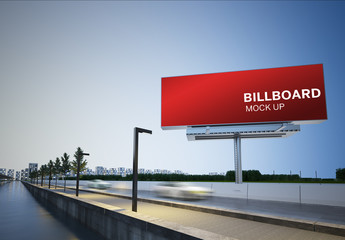 Billboard Mockup on Highway