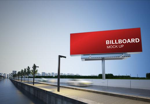 Billboard Mockup on Highway