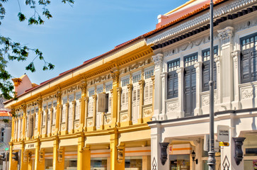 Wall Mural - Historical buildings in Joo Chiat Road, Singapore