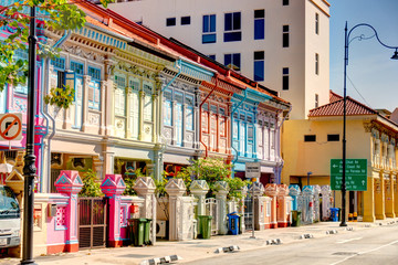 Wall Mural - Historical buildings in Joo Chiat Road, Singapore