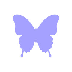 Butterfly silhouette isolated on white background. Butterfly - vector icon. Butterfly design. Vector